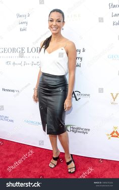 Eva LaRue attends Annual George Lopez Celebrity Golf Classic Pre-Party at Baltaire Restaurant in Los Angeles, CA on May 2018 , Eva Larue, George Lopez, Pre Party, Girl Celebrities, New Pictures, Royalty Free Photos, Super, Leather Skirt, Photo Editing