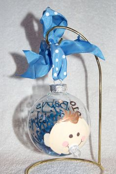 Baby's First Christmas Handcrafted Personalized Glass by Keeka24