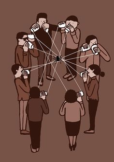 Jean Jullien's online portfolio: Allo? O resumo da nossa vida social.