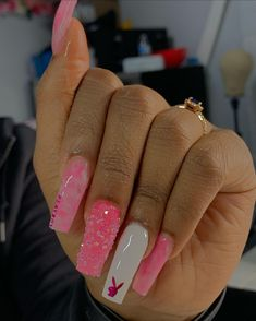 Best Acrylic Nails, Acrylic Nails Coffin Short, Simple Acrylic Nails, Square Acrylic Nails, Dope Nail Designs, Cute Acrylic Nail Designs, Dream Nails, Nail Inspo, Claws