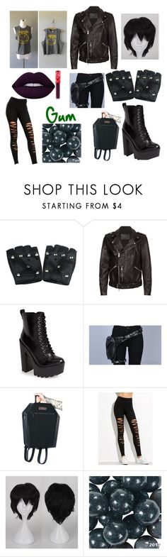 """""""Genderbent Sirius Black"""" by raven-witch ❤ liked on Polyvore featuring AllSaints, Steve Madden, Lime Crime and Banda"""
