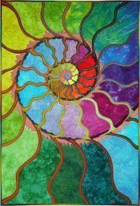 Fossil Fantasy © Fine Art Quilt by Caryl Bryer Fallert-Gentry, Port Townsend, WA Vogel Illustration, Quilt Modernen, Visual Texture, Silk Painting, Dot Painting, Art Plastique, Fabric Art, Art Techniques, Quilting Designs