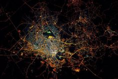 By NASA Scott Kelly from International Space Station Saigon Vietnam at night from space