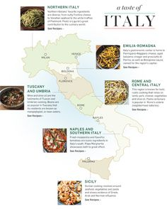 A Taste of Italy - Cook through Italy with our regional recipe map.
