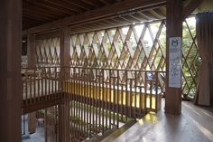 Image 8 of 36 from gallery of Microlibrary Warak Kayu / SHAU Indonesia. Courtesy of SHAU Indonesia Library Architecture, Innovative Architecture, Architecture Design, Wood Railing, Wood Stairs, Semarang, Play Houses, Gallery, Image
