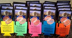 """I made these to pass out at the local ball field.  I filled a koozie with a brochure about our property, peanuts & a pen.  Each one has a Peanut tag that says """"We are NUTS about our Residents!"""" ~ Layout Designed by Bonnie Brown"""