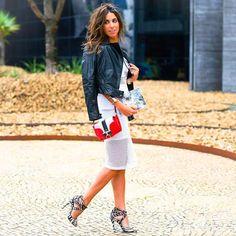 Beautiful combo! Look by Luiza Sobral. #winter #fashion #brazilianness www.brazilianness.com