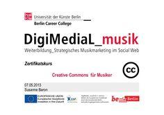 Die Präsentation vermittelt einen Überblick, wie Musiker das alternative Lizenzmodell der Creative Commons nutzen können.