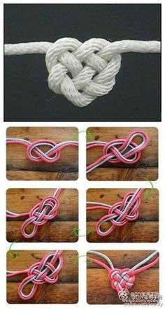 How to heart knot