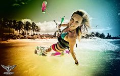 """Susi Mai is one of the top 10 Finalists in the """"Most Influential Girl Kitesurfer 2012"""" competition!"""