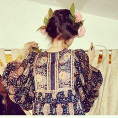 floral chiffon shirt boho chic