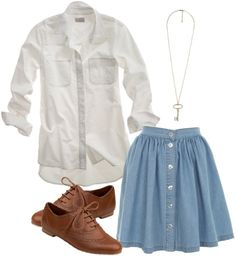Love this whole combination, i would maybe just take the long sleeve shirt and put a short sleeve w/ cardigan.