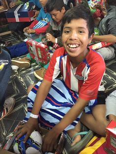 This young man in Paraguay was delighted to receive a football in his shoebox gift!