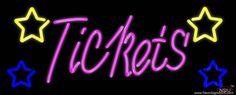 Pink Tickets Real Neon Glass Tube Neon Sign