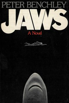 Jaws by Peter Benchley. Cover design by Paul Bacon. See 15 classic Paul Bacon book cover designs here: http://www.robertnewman.com/15-classic-paul-bacon-book-cover-designs/