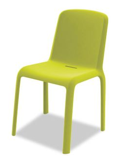 The Chair Market:   Snow Contemporary Stack Chair  A fun design made with injected polypropylene, lightweight and UV ray resistant making it ideal for outdoor use. It is characterized by oval profiles that make it strong, handy, and perfectly stackable.
