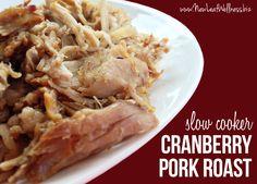 Slow Cooker Cranberry Pork Roast