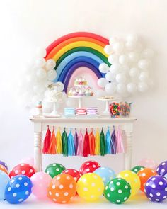 Adorable rainbow party