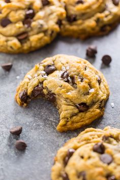 These easy Vegan Chocolate Chip Cookies are thick, chewy, and loaded with gooey chocolate. No one will guess they're vegan!