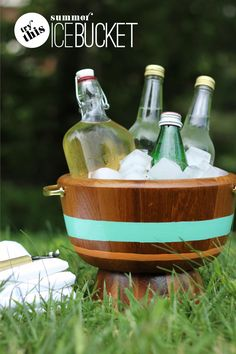 Fabric Paper Glue | DIY (End-of) Summer Ice Bucket