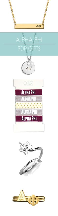 Top Alpha Phi Gifts for you and your sisters! This season's must-haves for all things APhi // #sorority www.alistgreek.com