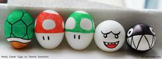 Mario Kart Easter eggs (the mushrooms look super easy and cute!)
