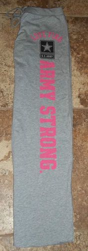 Victorias Secret Army Strong Love Pink Boyfriend Pants Size Medium