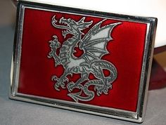 Red Dragon Silver Coloured Belt Buckle by skrocki on Etsy, $85.00 Red Dragon, Belt Buckles, Silver Color, Artisan, Trending Outfits, Unique Jewelry, Handmade Gifts, Metal, Leather