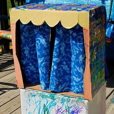 It can be a Puppet Theater! #cardboard box