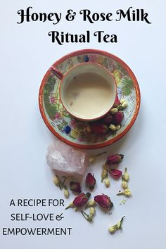 Honey & Rose Milk Ritual Tea: A Recipe For Self-Love & Empowerment – Altared Intentions Wicca Recipes, Te Chai, Honey Rose, Under Your Spell, Baby Witch, Kitchen Witchery, Rose Tea, Rose Milk Tea, Tea Blends