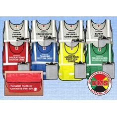 NIMS/HICS 8 Position Command Vest Kit for Small Hospital....