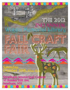 Stratham Craft Fair poster design