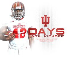 Indiana Football - Countdown to Kickoff Graphic