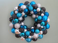 Carolina Panthers Team Ornament Wreath by dottiegray