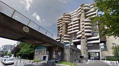 École nationale supérieure d'architecture de Grenoble - 1978 by Roland Simounet - #architecture #googlestreetview #googlemaps #googlestreet #france #grenoble #brutalism #modernism