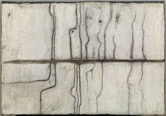 "NÚRIA GUINOVART ""Cruïlles"" Cemento y alquitrán. 78x55"