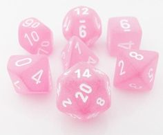 Frosted Dice Pink
