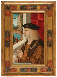 Habsburg Court Painter, early 16th Century Portrait of Emperor Maximilian I (1459–1519), oil on panel, 43 x 26.5 cm, framed Maximilian I, Old Master, Triptych, 15th Century, Emperor, Oil, Portrait, June, Paintings
