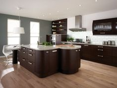 Effigy of Bamboo Flooring Style Adds Effortless Dramatic Scent in the Kitchen