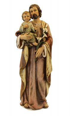 """St. Joseph with Child Statue - 37"""" - Multi-Color"""