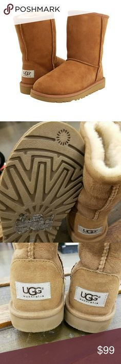 Big Kid's UGGS size 3 Worn once In amazing, Like-new condition!! The inside and outside of boots are impeccable! UGG Shoes Rain & Snow Boots
