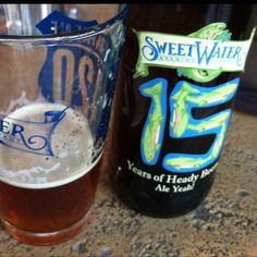 First taste of SweetWater's 15th. Big  10% strong ale based off of the original ESB recipe