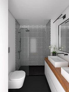 Modern bathroom vanity unit in black and white wood plan to bring - ., Modern bathroom vanity unit in black and white wood plan to bring - # Décorationsalledebain.