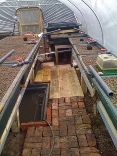 Aquaponics system with fish tank