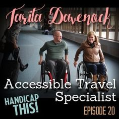 If you like to travel but find traveling with special needs overwhelming, you will not want to miss out on today's episode. Tim and Mike talk to accessible travel specialist Tarita Davenock. What exactly is accessible travel and what does an accessible travel specialist do? Tim and Mike ask those questions, plus many more!   >>> See it. Believe it. Do it. Watch thousands of spinal cord injury videos at SPINALpedia.com