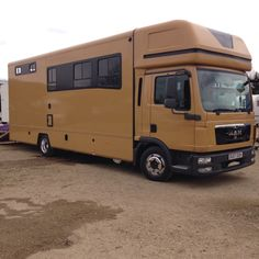 Dun coloured MAN horsebox to carry two dun coloured ponies