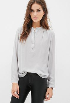 Round Collar Blouse | FOREVER 21 - 2055880011