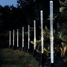details about 8 solar power acrylic bubble stick light led outdoor lawn garden parks path lamp