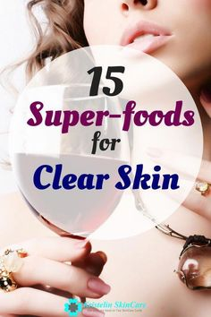 Are you having trouble with your skin? Try these 15 super-foods to instantly boost your mood and clear your skin. #ClearSkinDiet Foods For Clear Skin, Clear Skin Detox, Clear Skin Tips, Diy Skin Care, Skin Care Tips, Anti Aging Skin Care, Natural Skin Care, Superfoods, Healthy Skin