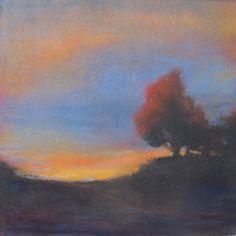 sing the blues by Loriann Signori Pastel ~ 6 x 6